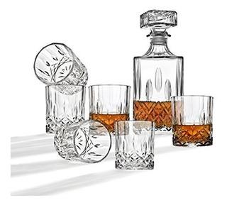 Decantador De Whisky Y Juego De Barras De Vasos, Incluye Dec