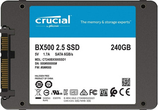 Crucial Bx500 Ssd 240 Gb Disco Estado Solido 3d Nand