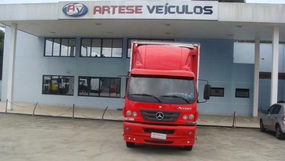 Mercedes Benz Accelo 815 Ano 2012/12 Com Baú Carga Viva