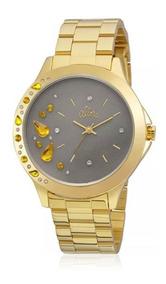 Relógio Feminino Allora Pendeloques Al2036fgm/4c Dourado