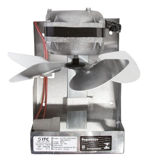 Exaustor Para Churrasqueiras Itc 200mm Com Iluminação - 220v