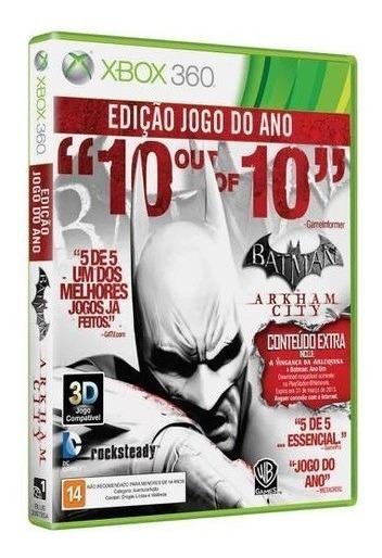 Batman Arkham City Goty Original Completo Xbox 360