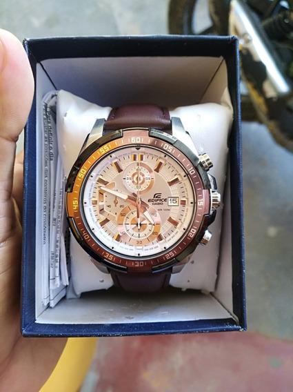 Reloj Casio Edifice Efr-539l-7av Original Y Nuevo