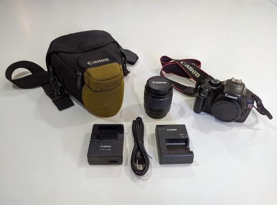 Câmera Canon Eos Rebel T3 + Lente Efs 18-55mm + Bolsa + Card