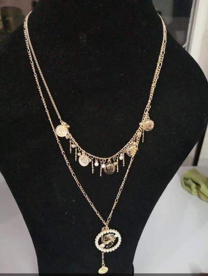Elegante Collar En Chapa Oro