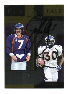 1998 Pinnacle Inscriptions Autografo John Elway Broncos