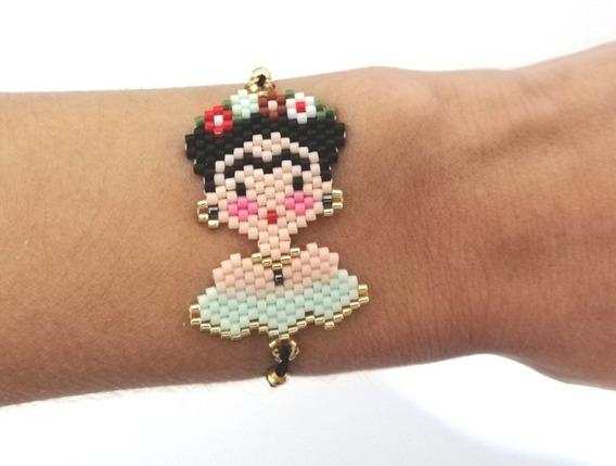 Pulsera Frida Kahlo Ajustable Moda Miyuki Regalo Ideal