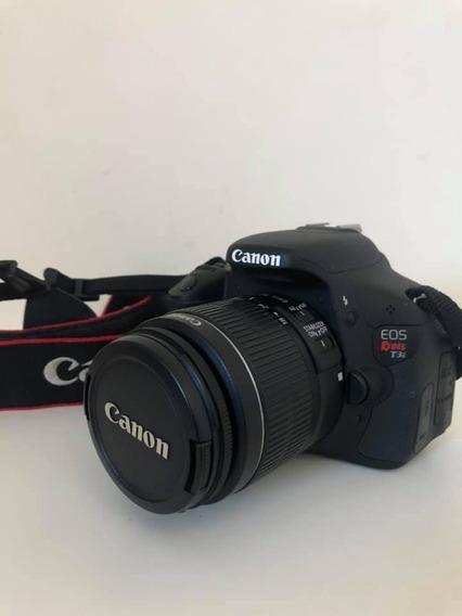 Câmera Canon Dsrl Eos Rebel T3i Novinha