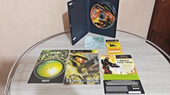 Halo 2 Original Usa 2004 Completo Xbox Clássico