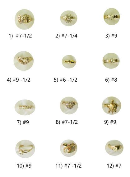 Anillos Varios Chapa 14k Y Laminado Oro 14k Con Circonias