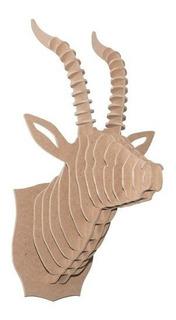 Cabezas De Animales Para Pared Cabra Chiva 6mm Mdf