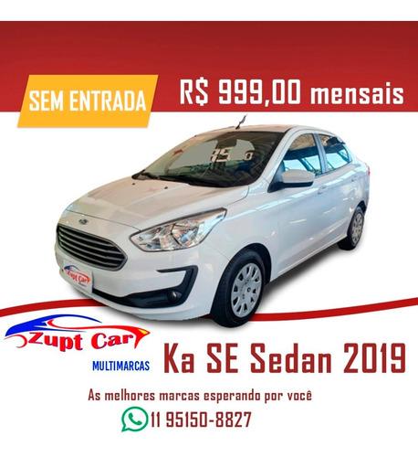 Ford Ka Sedan 2019 - Completo -- Sem Entrada -- 99 Uber Pop