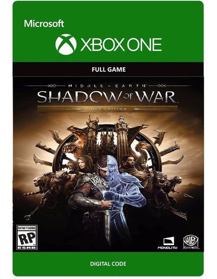 Sombras Da Guerra Edição Gold Xbox One Código 25 Dígitos