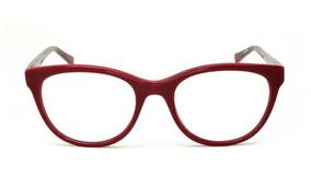 Óculos Atitude Em Acetato Vermelho Queimado Com Haste Pink