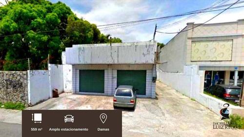 Pc1272 - Aluga Ponto Comercial Com Estacionamento No Bairro Damas Com 559m² Área Útil - Pt0014