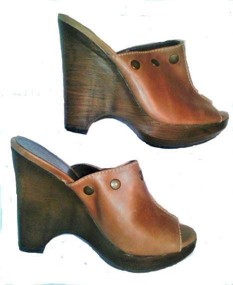 Zapato Levis De Dama De Plataforma T 25-25.5