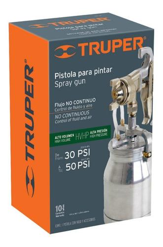 Imagen 1 de 3 de Pistola Para Pintar 50psi Succion Truper 14087 Truper