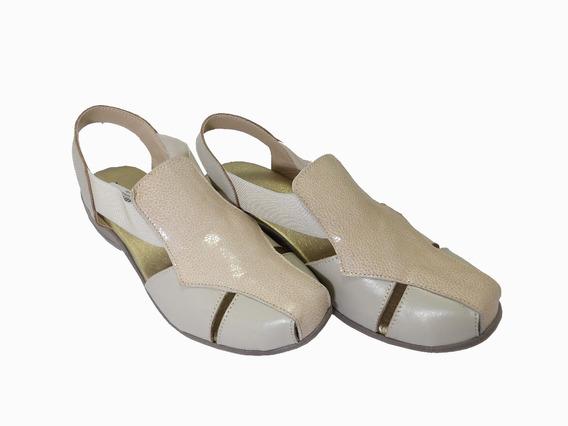 Sandalia De Cuero Combinada - Calzados Union - Art 503