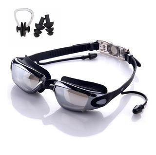 Óculos De Natação Profissional Antiembaçante Protetor Ouvido