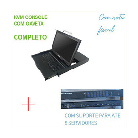 Kvm 8 Portas Painel Lcd 17 Para Servidores Hp 714643-s05