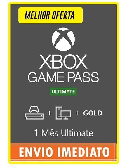 Xbox Game Pass Ultimate 1 Mês 28 Dias Códigos De 25 Digitos