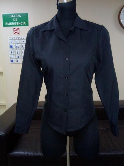 Blusas De Vestir Dama En Color Negro 65%pol Y 35% ALG