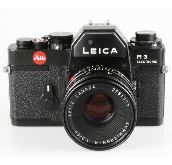 Câmera Analógica 35mm Leica R3 Com Summicron-r 50mm F2