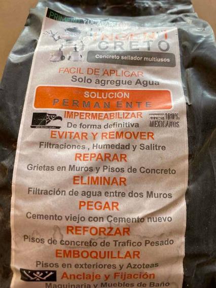 Ingenicreto Blanco 1 Kg Impermeabilizante Y Resana Paredes