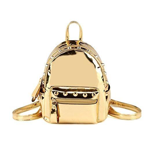 Mochilahearty Trendy Mini dorado Metálico