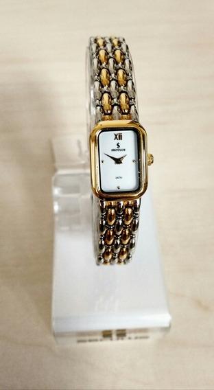 Relógio Séculus Feminino Pulseira E Caixa Mista Fundo Branco