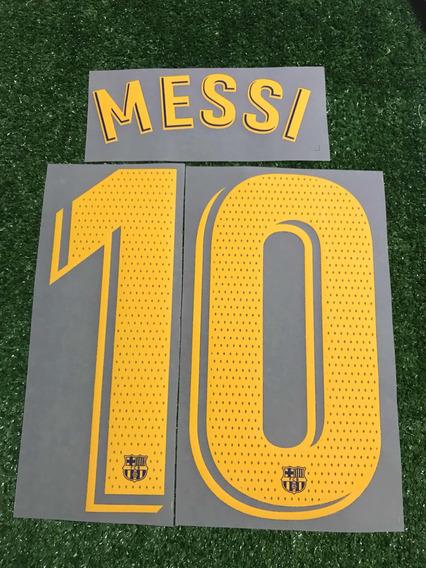 Tipografía. Número Barcelona 2018 - 2020. Local. Messi.