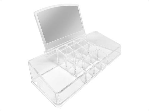 Porta Cosmeticos Organizador De Maquillaje Espejo Accesorio