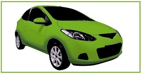 Pintura Automotor Bicapa - Verde Remis 4lts