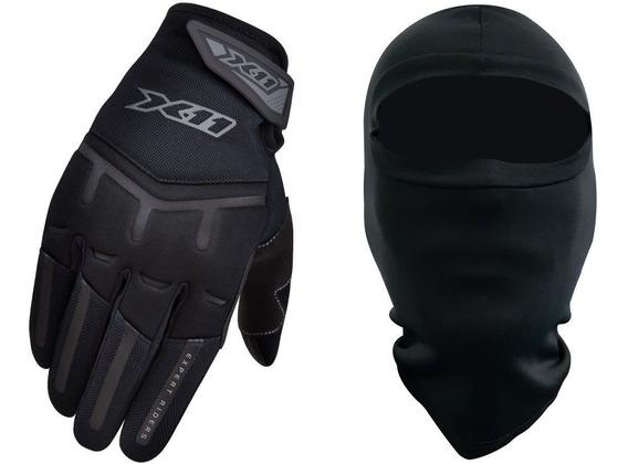 Luva Motociclista X11 Fit X Motoqueiro Touchscreen + Touca