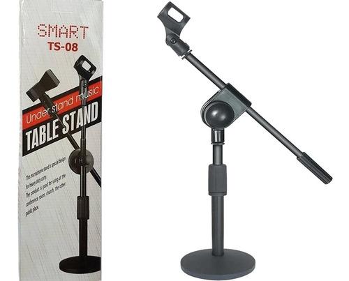 Imagem 1 de 4 de Pedestal De Mesa Para Microfone Smart Ts08 + Cachimbo