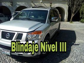 Nissan Armada 5.6 Se Piel Qc 4x2 At Blindaje Nivel 3