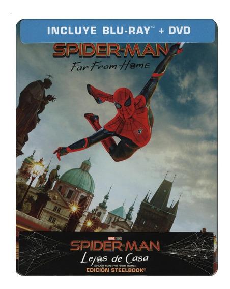 Spider-man Lejos De Casa Steelbook Marvel Blu-ray + Dvd