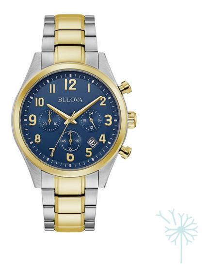 98b346 Reloj Bulova Quartz Classic Para Caballero Plat/dor/a