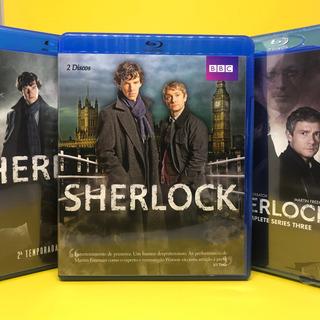 Blu Ray Coleção Sherlock Série Bbc Temporada 1 2 E 3
