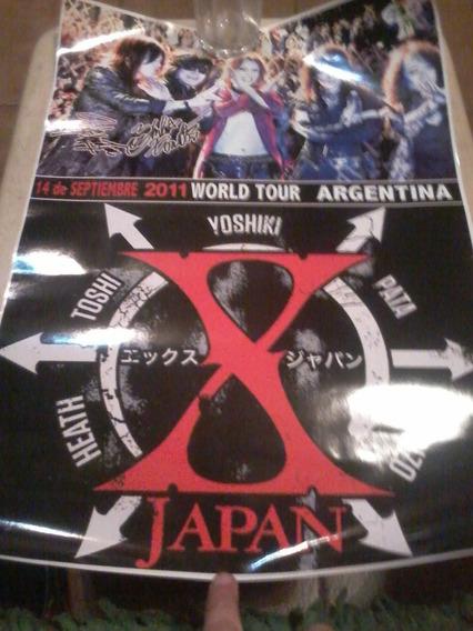 X Japan Dos Posters Del Recital En Argentina Del 2011!!