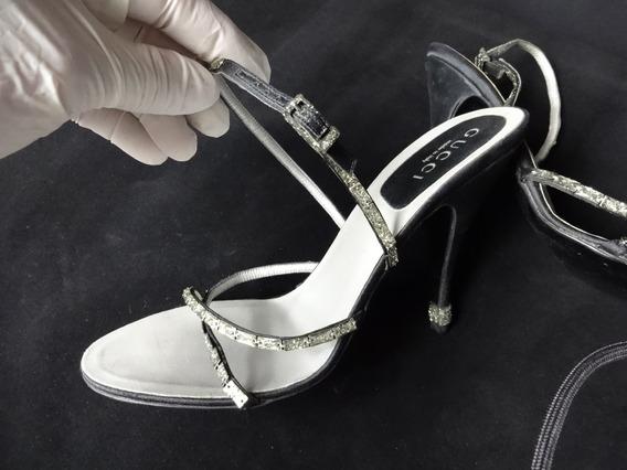 Sapatos Gucci Mod T-strap Cor Preto Tam.28 Cm 2154
