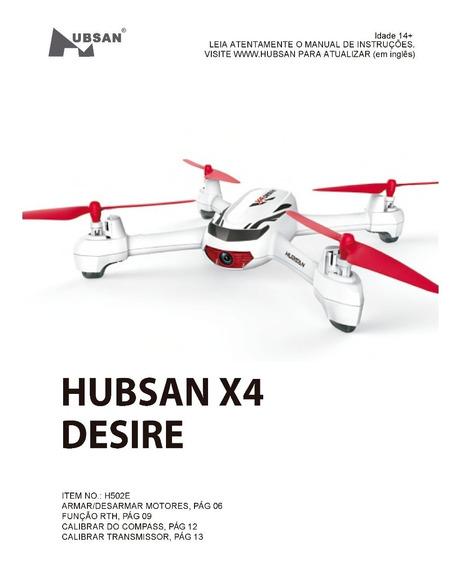Manual Traduzido (versão Pdf) Hubsan X4 Desire H502e