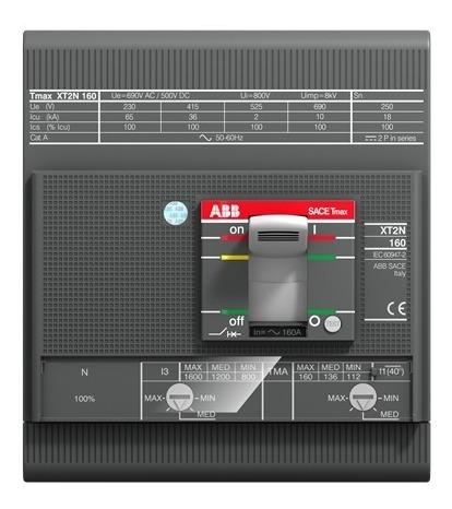Abb 1sda067621r1  Interruptor Caja Moldeada Xt2h 63amp 4polos Tmax 160