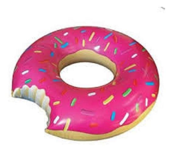 Boia Inflável Rosquinha Donuts Rosa Bel Lazer