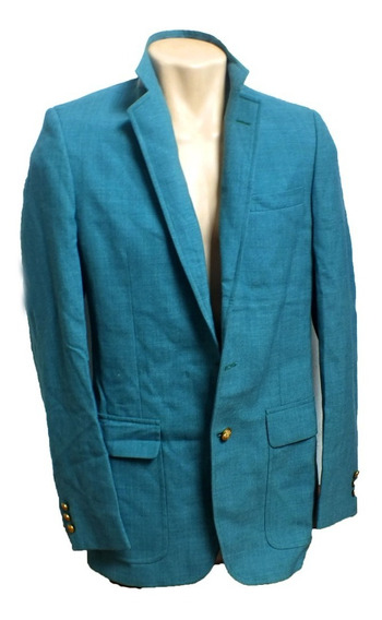 Blazer Masculino Verde Água Elegante Botões Dourados B5452