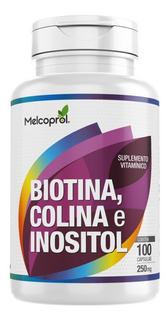 Suplemento Vitaminico Biotina Colina Inositol 100caps 250mg