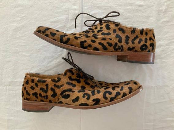 Zapatos Hombre. Pelo Animal Print. Talle 43