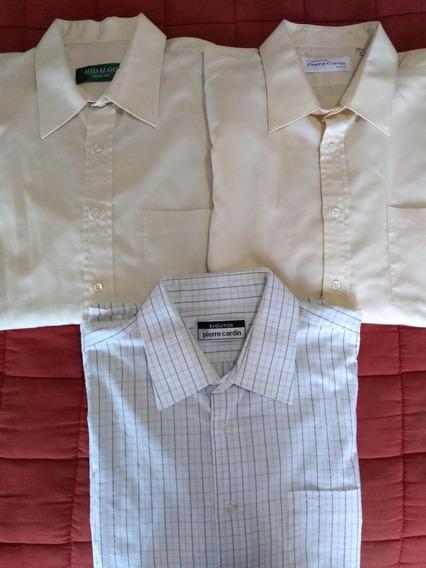 3 Camisas De Vestir Hidalgo Y Pierre Cardin