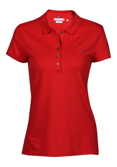 Polo Slim Fit Tommy Hilfiger Rojo 1m57636661-611s Mujer