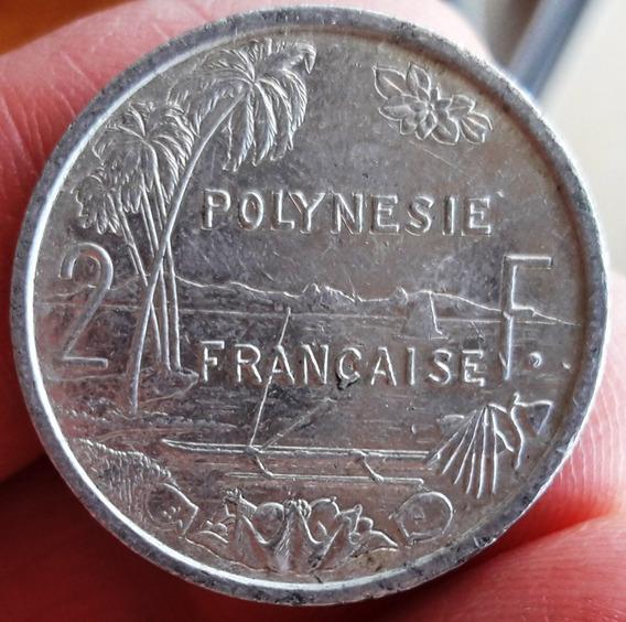 Polinesia Francesa Moneda Del Año 2008 - Valor 2 Francs